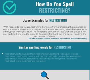 Correct spelling for restricting