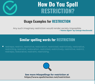 Correct spelling for restriction