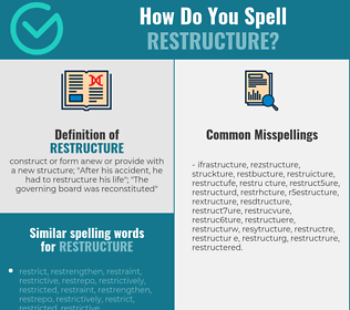 Correct spelling for restructure