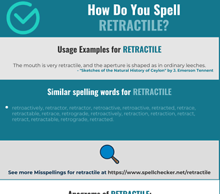 Correct spelling for retractile