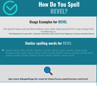 Correct spelling for revel