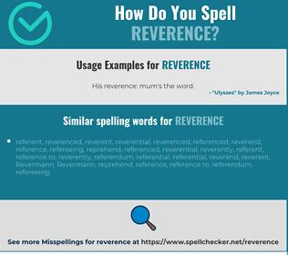 Correct spelling for reverence