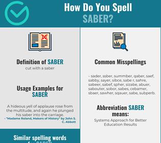 Correct spelling for saber