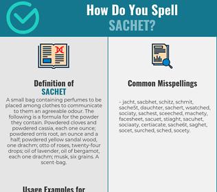 Correct spelling for sachet