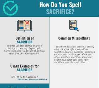 Correct spelling for sacrifice