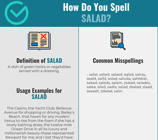 Correct spelling for salad