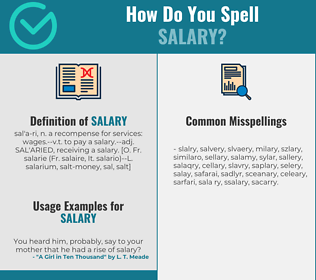 Correct spelling for salary