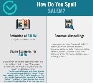 Correct spelling for salem