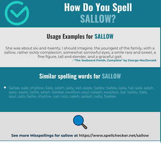 Correct spelling for sallow
