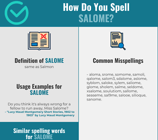 Correct spelling for salome