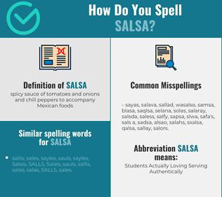 Correct spelling for salsa
