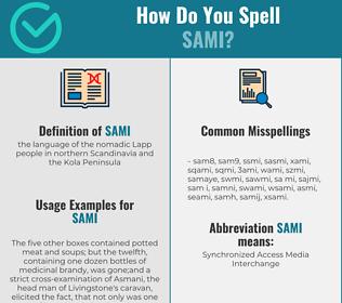 Correct spelling for sami