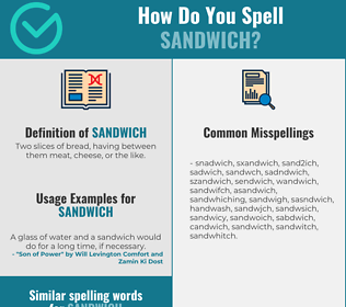 Correct spelling for sandwich