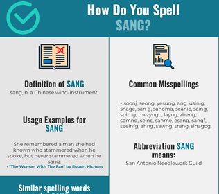 Correct spelling for sang