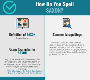 Correct spelling for saxon