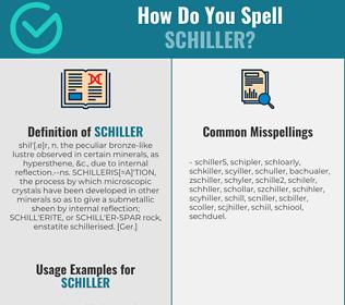 Correct spelling for schiller