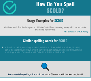 Correct spelling for scold