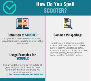 Correct spelling for scooter