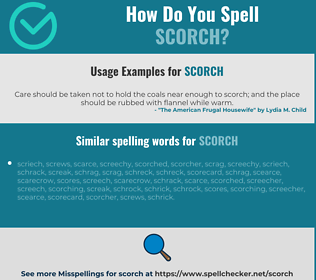 Correct spelling for scorch