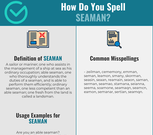 Correct spelling for seaman
