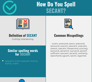 Correct spelling for secant
