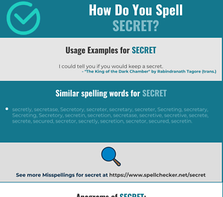 Correct spelling for secret