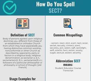 Correct spelling for sect