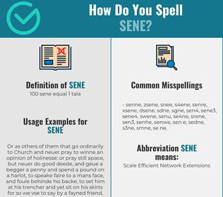 Correct spelling for sene