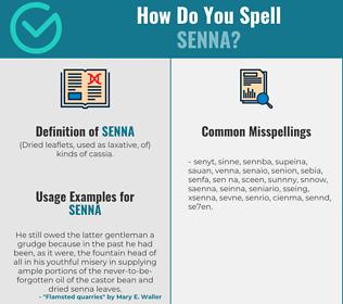 Correct spelling for senna