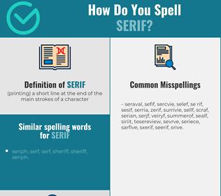 Correct spelling for serif