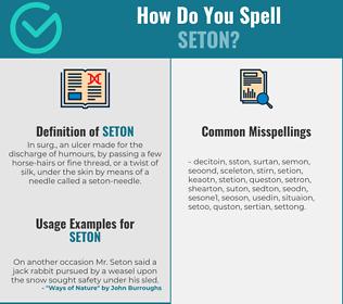 Correct spelling for seton