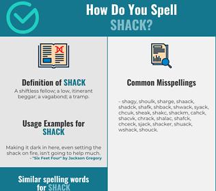 Correct spelling for shack