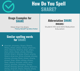 Correct spelling for share