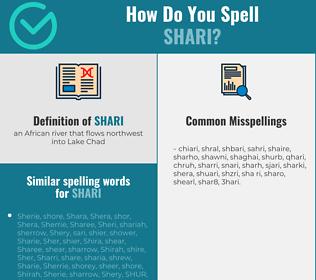 Correct spelling for shari