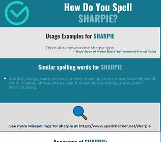 Correct spelling for sharpie