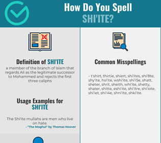 Correct spelling for shi'ite
