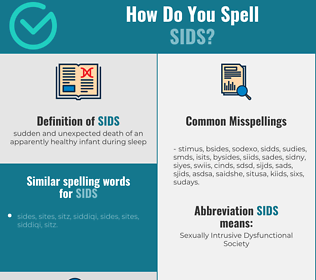 Correct spelling for sids