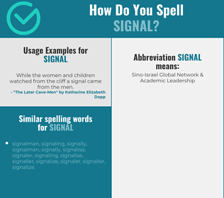 Correct spelling for signal