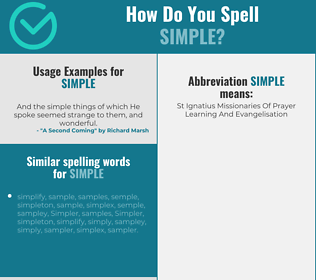 Correct spelling for simple