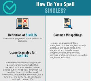 Correct spelling for singles