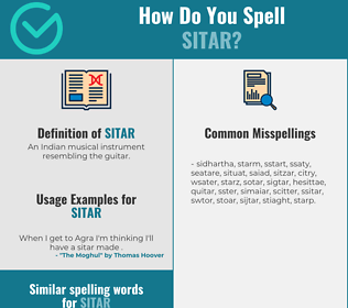 Correct spelling for sitar