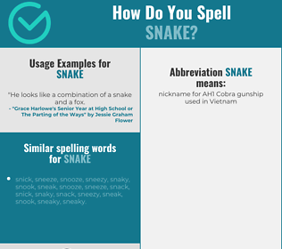 Correct spelling for snake