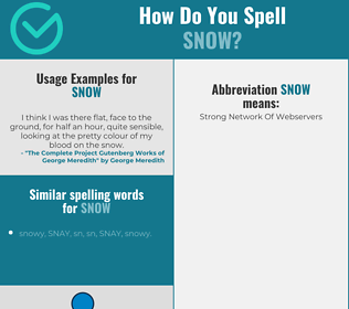 Correct spelling for snow
