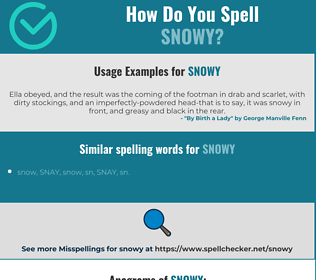 Correct spelling for snowy