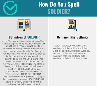 Correct spelling for soldier