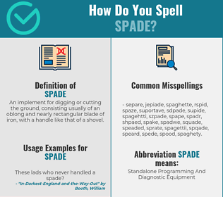 Correct spelling for spade