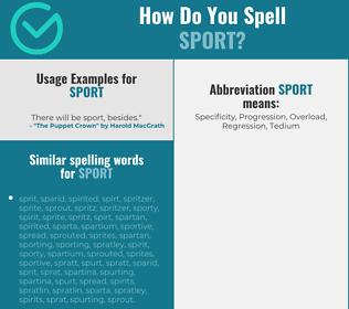 Correct spelling for sport