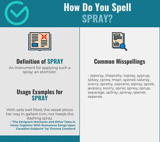 Correct spelling for spray