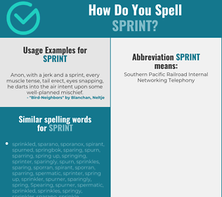 Correct spelling for sprint