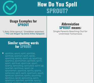 Correct spelling for sprout